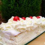Pastel helado de nata-galleta