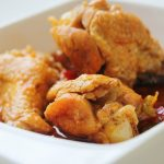 Mancárica de pui ( pollo guisado con verduras )